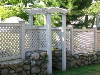Pergola with Lattice