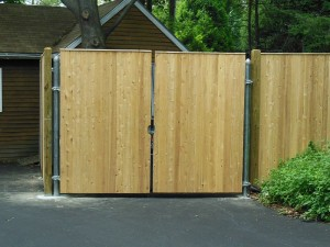 8' Wood Double Drive Gate